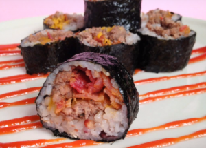 korean-kimbap-style-cheeseburger-sushi-recipe