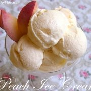Peach Ice Cream with 3 Ingredients