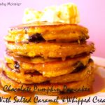 Chocolate Pumpkin Pancakes {With Salted Caramel & Whipped Cream}