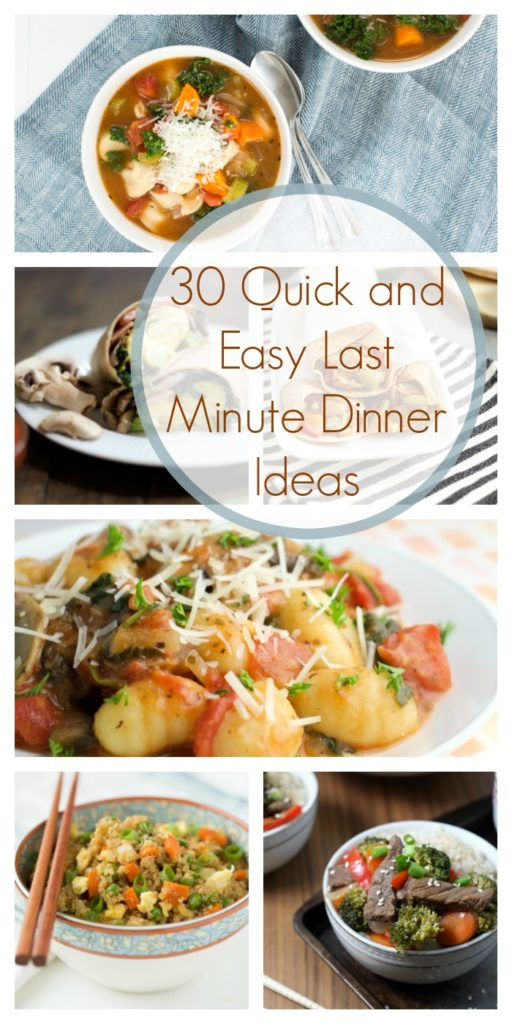 Last Minute Meal Ideas – Quick & Easy Dinner Inspiration