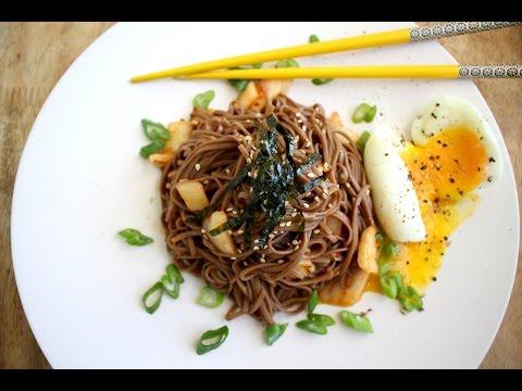 Korean Soba Noodles Bibimguksu 김치 비빔국수