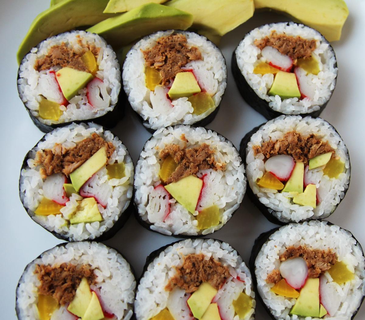 Kimchi Tuna Korean Kimbap Rolls