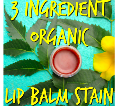 Tinted Lip Balm – Easy, Organic 3 Ingredient Lip Stain