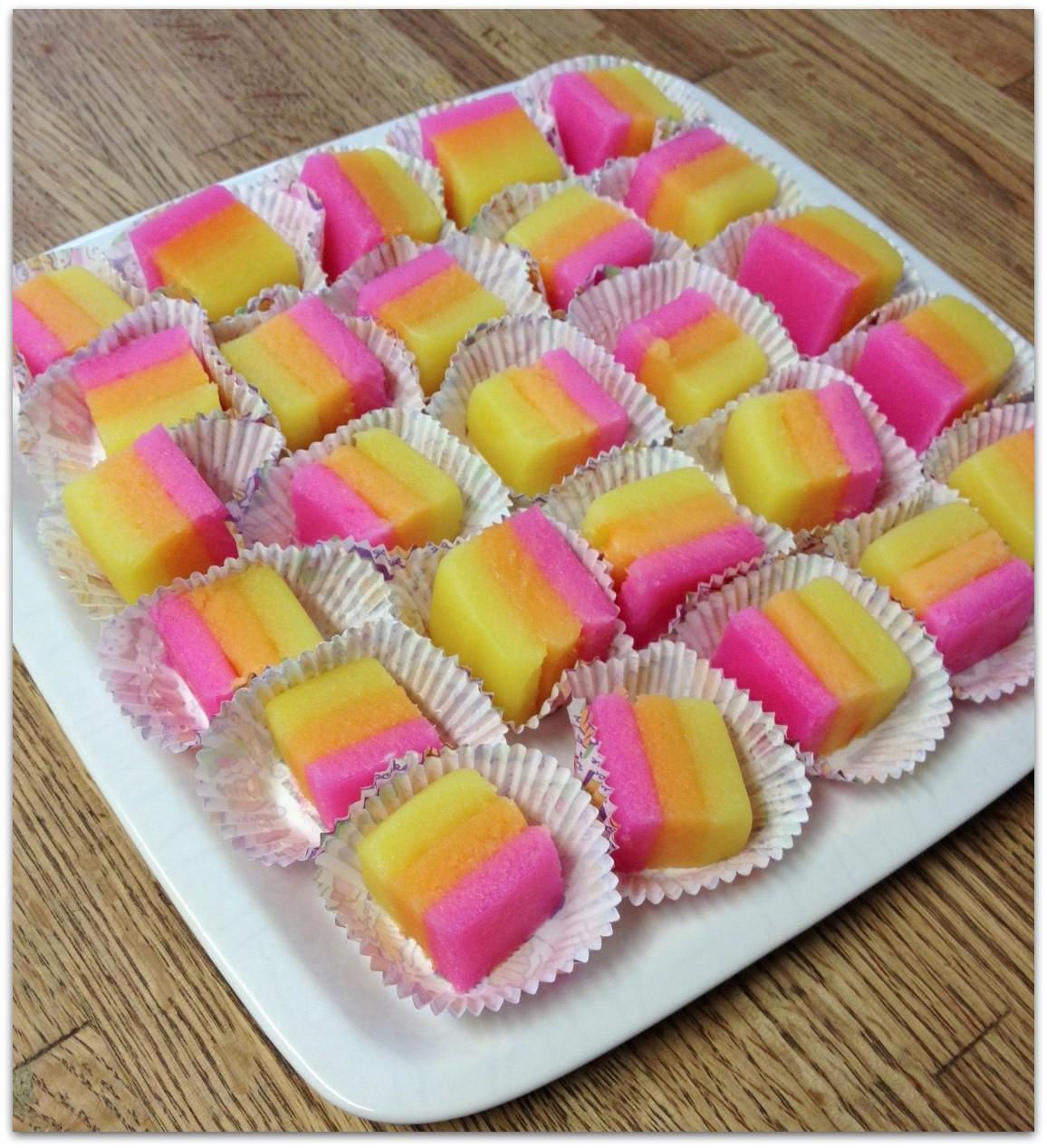 Rainbow Mochi Cake