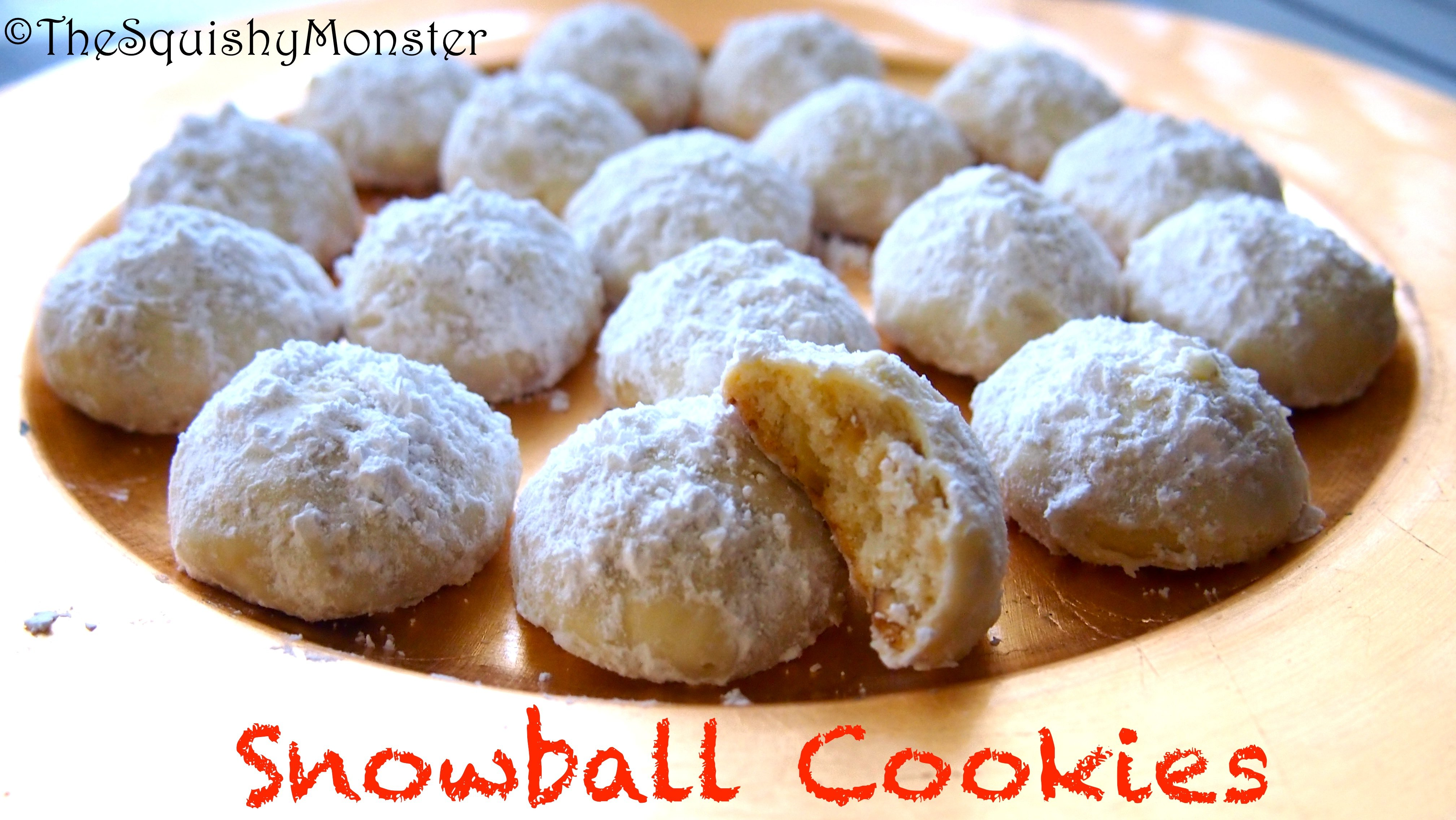 Snowball Cookies | The Squishy Monster