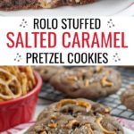 Stuffed Salted Caramel Chocolate Chip Cookies