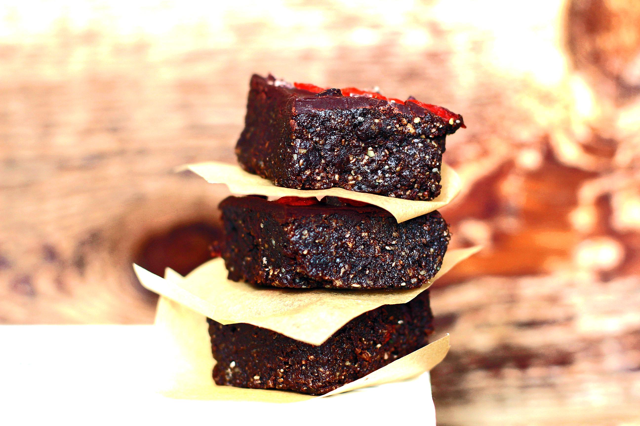 No Bake Superfood Brownies
