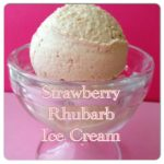 Strawberry Rhubarb Ice Cream