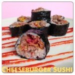 Bacon Cheeseburger Sushi {Burgushi}