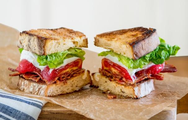 Bacon, Mozzarella, and Roasted Tomato Sandwich