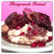 Pomegranate Braised Ribs